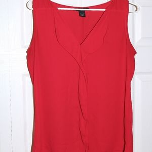 WHBM Red Tank Blouse